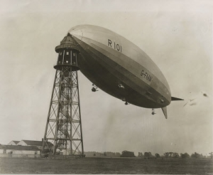 Airship Heritage Trust financed a display of a model of the R101