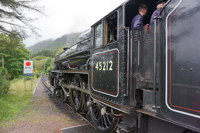 Jacobite train's steam locomotive